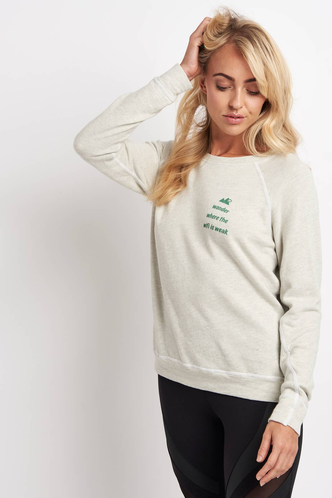 good hYOUman Wander where the Wifi - Crew Pullover image 1 - The Sports Edit