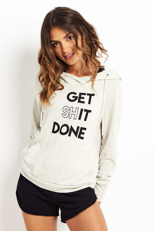 good hYOUman Get Shit Done – The Gemma Hoodie - Natural image 5 - The Sports Edit