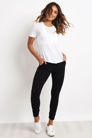 good hYOUman Lexi Petal Back Tee - Optic White image 2 - The Sports Edit