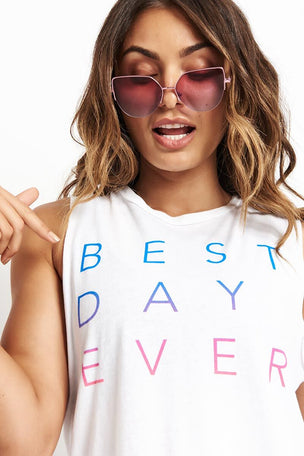 good hYOUman Best Day Ever - The Lili Crop - Optic White image 3 - The Sports Edit