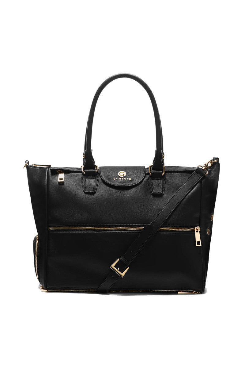 GymTote Reese Nappa Leather - Black image 2 - The Sports Edit