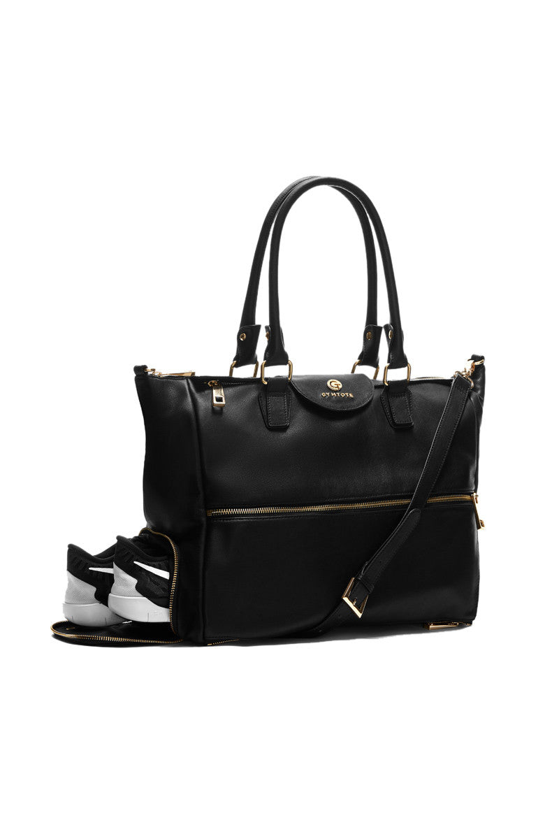 GymTote Reese Nappa Leather - Black image 1 - The Sports Edit