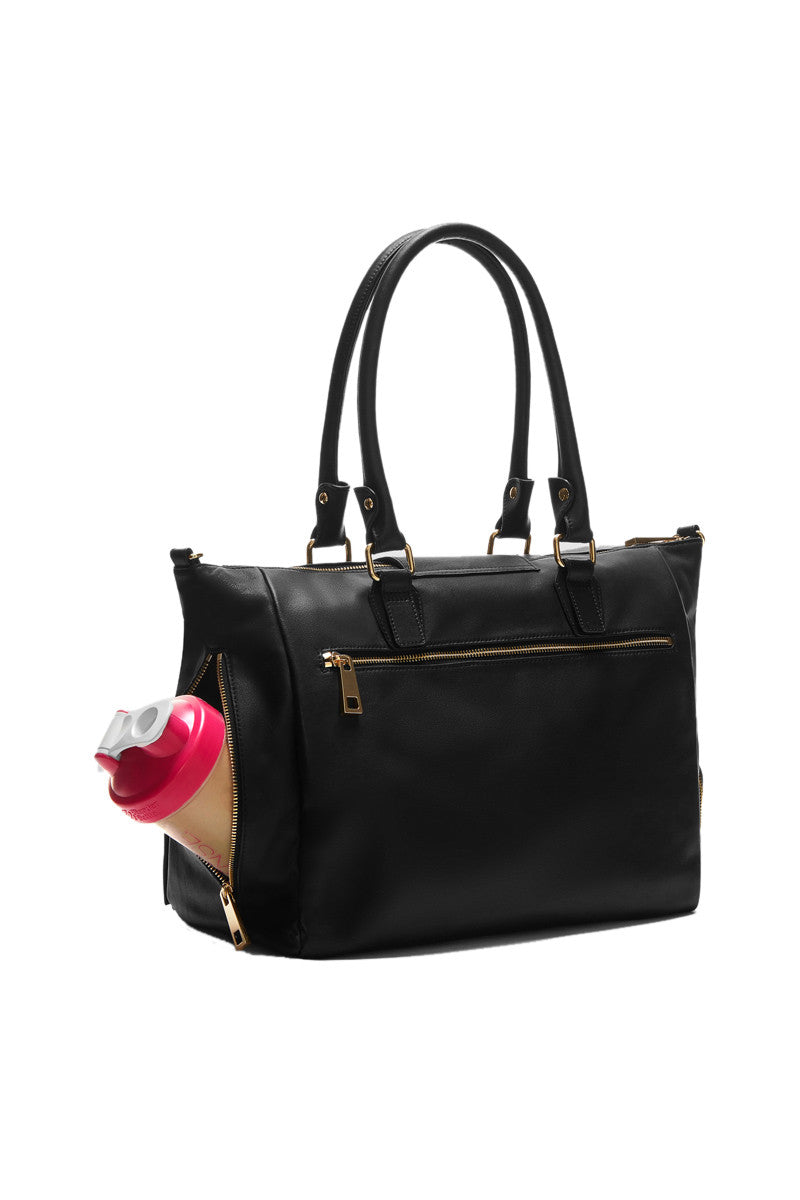 GymTote Reese Nappa Leather - Black image 4 - The Sports Edit