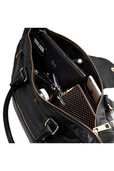 GymTote Reese Nappa Leather - Black image 5 - The Sports Edit
