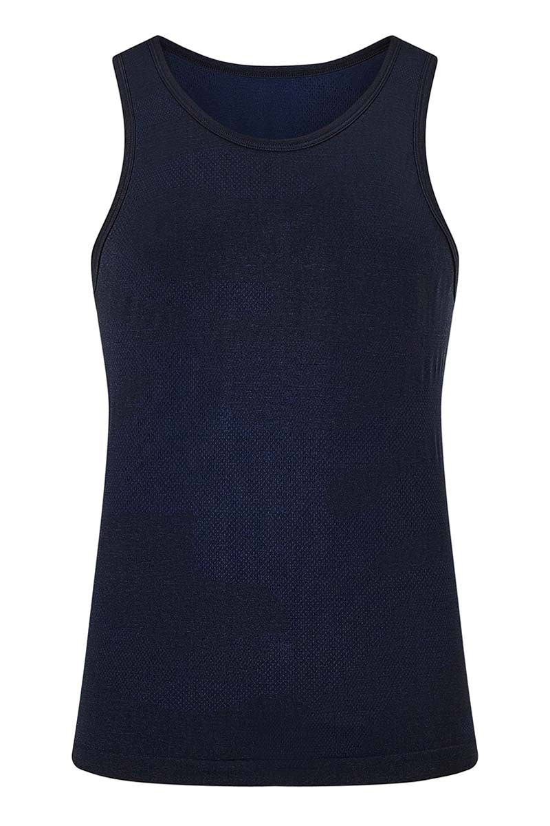 HPE Cross X Seamless Camo Tank - Navy image 5 - The Sports Edit