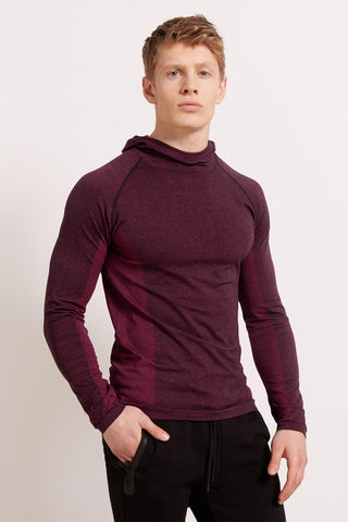 HPE Cross X Seamless Hoodie - Plum image 1 - The Sports Edit