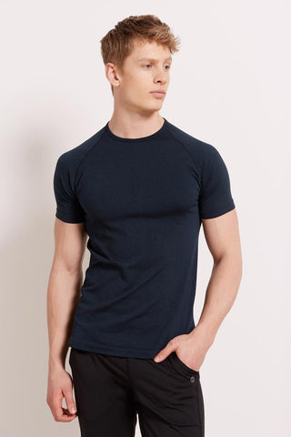 HPE Cross X Seamless TShirt - Navy image 1 - The Sports Edit