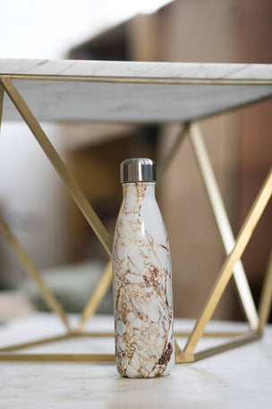 S'Well Calacatta Gold Water Bottle | 500ml image 2 - The Sports Edit