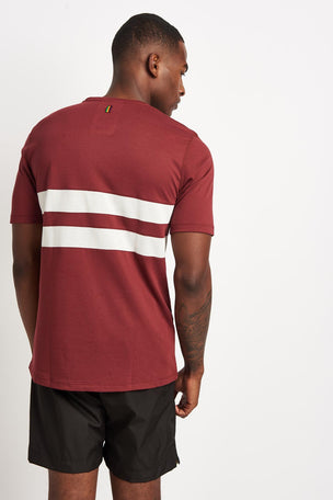 Iffley Road Cambrian Striped T-Shirt - Maple/ White image 2 - The Sports Edit
