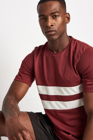 Iffley Road Cambrian Striped T-Shirt - Maple/ White image 3 - The Sports Edit