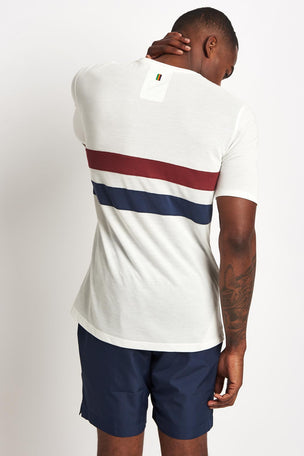 Iffley Road Cambrian Tee Stripe White/Maple/Navy image 2 - The Sports Edit