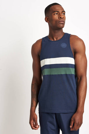 Iffley Road Lancaster Night Sky Stripe Running Vest image 1 - The Sports Edit