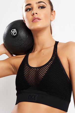 Ivy Park Active Circle Knit Overlay Bra image 3 - The Sports Edit