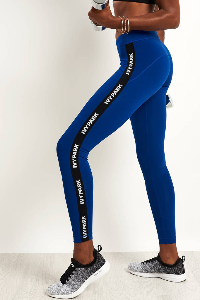 9bdf38587920f Ivy Park Ivy Park Active Logo Leggings - Sodalite Blue image 1 - The Sports  Edit