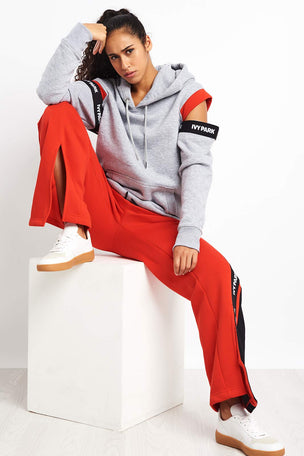 Ivy Park Asymmetric Stripe Joggers - Red image 2 - The Sports Edit