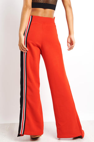 Ivy Park Asymmetric Stripe Joggers - Red image 3 - The Sports Edit