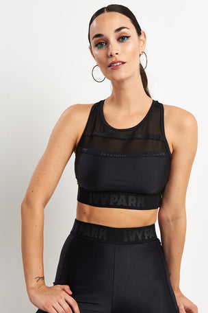 Ivy Park Caging Bra - Black image 1 - The Sports Edit
