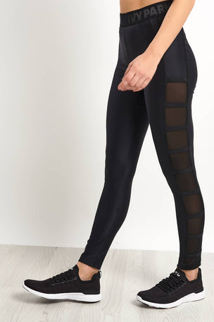 Ivy Park Caging Leggings - Black image 1 - The Sports Edit