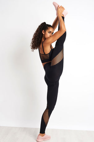 Ivy Park Circ Spiral Leggings - Black image 4 - The Sports Edit