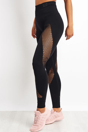 Ivy Park Circ Spiral Leggings - Black image 1 - The Sports Edit