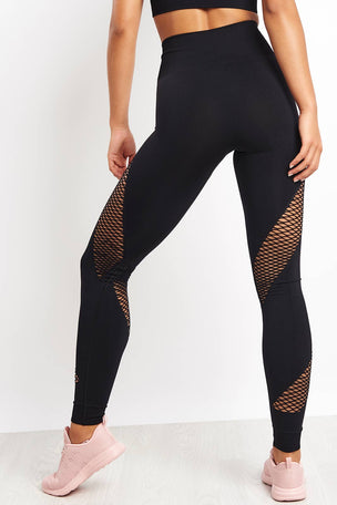 Ivy Park Circ Spiral Leggings - Black image 2 - The Sports Edit