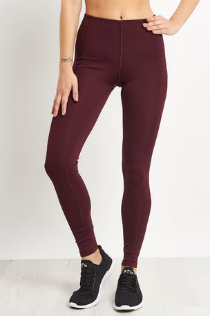 Ivy Park Logo Ankle Active Legging - Aubergine image 1 - The Sports Edit