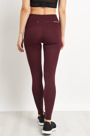 Ivy Park Logo Ankle Active Legging - Aubergine image 2 - The Sports Edit