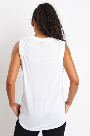 Ivy Park Layer Logo Sleeveless Tank Top - White image 3 - The Sports Edit