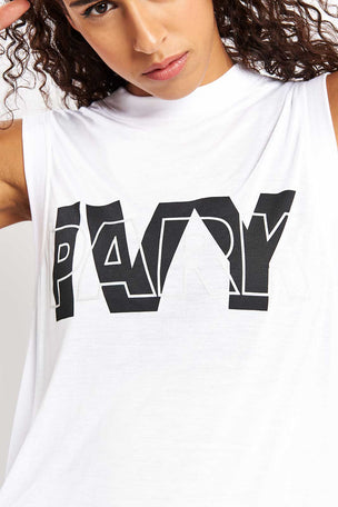 Ivy Park Layer Logo Sleeveless Tank Top - White image 2 - The Sports Edit