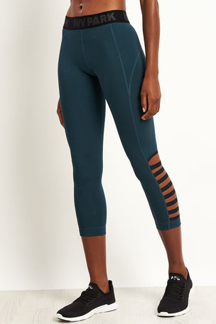 Ivy Park Multi Strap 7/8 Legging - Midnight Blue image 1 - The Sports Edit