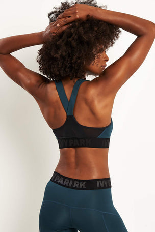 Ivy Park Active Logo Elastic Bra - Midnight Blue image 2 - The Sports Edit