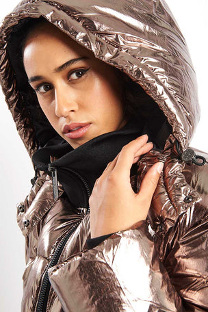 Ivy Park Metallic Puffer Jacket image 3 - The Sports Edit