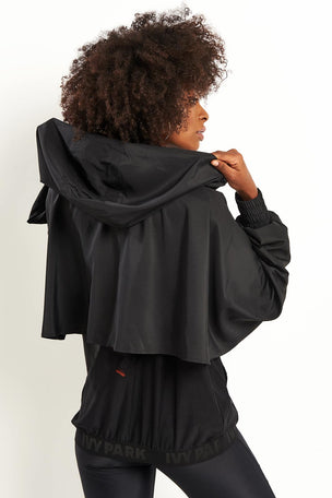 Ivy Park Regal Drape Sleeve Jacket - Black image 2 - The Sports Edit