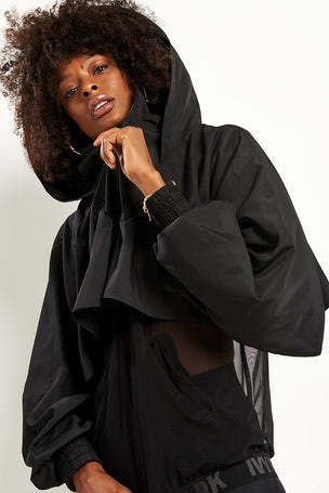 Ivy Park Regal Drape Sleeve Jacket - Black image 3 - The Sports Edit