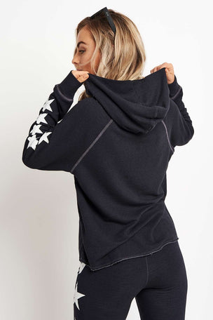 Sundry Side Stars Cropped Hoodie image 2 - The Sports Edit