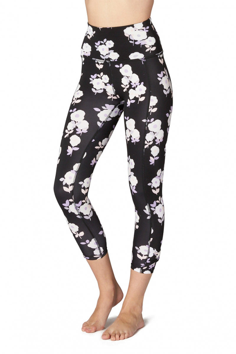 Kate Spade x Beyond Yoga Lux Floral Cinched Side Bow High Waist Capri image 2 - The Sports Edit