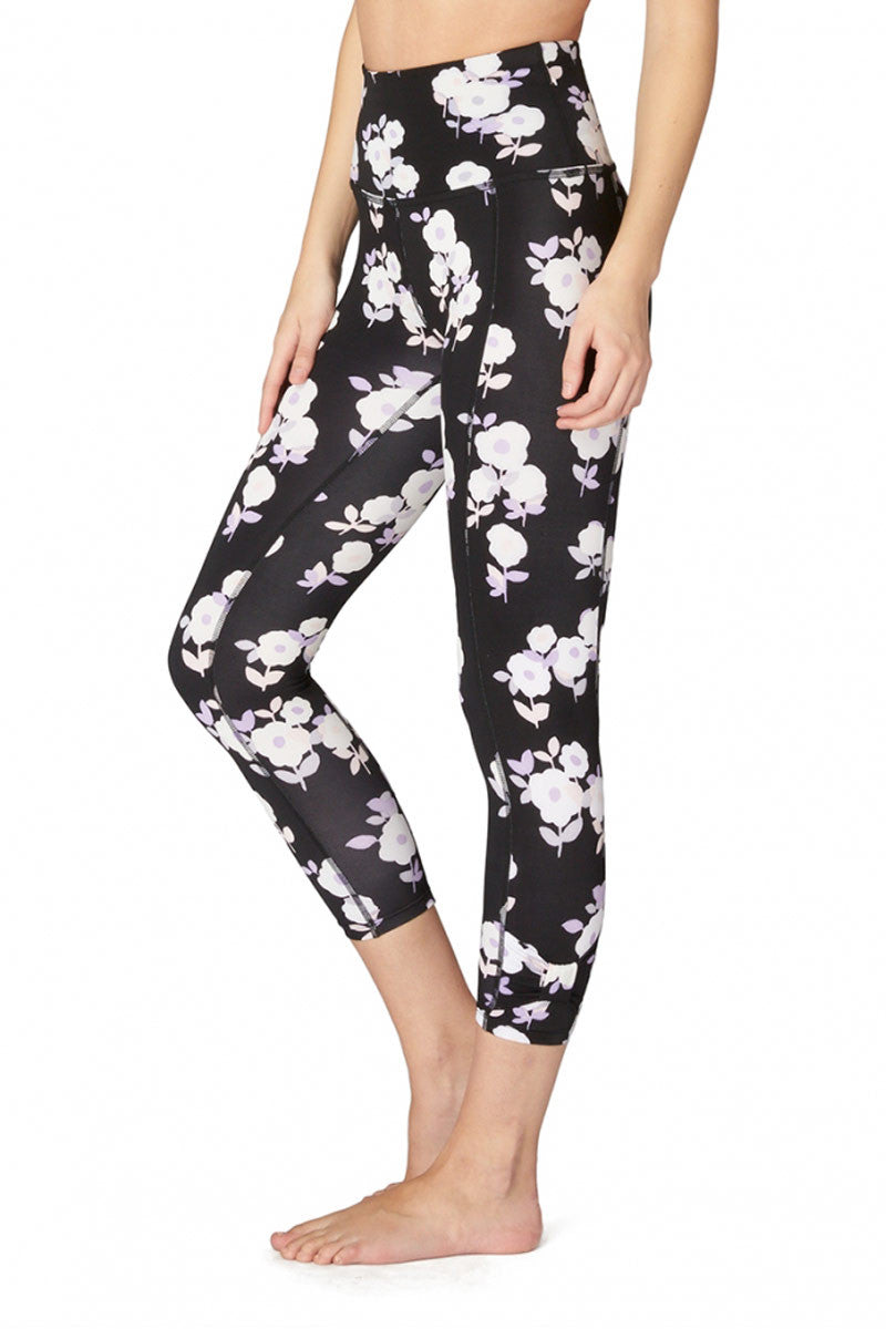 Kate Spade x Beyond Yoga Lux Floral Cinched Side Bow High Waist Capri image 3 - The Sports Edit