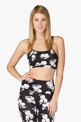 Kate Spade x Beyond Yoga Lux Floral Cinched Bow Bra image 2 - The Sports Edit