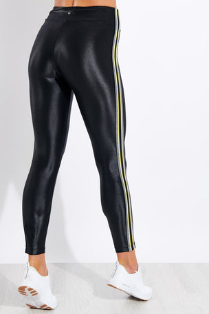 Koral Trainer High Waisted Infinity Legging - Black/Yellow image 2 - The Sports Edit
