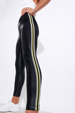 Koral Trainer High Waisted Infinity Legging - Black/Yellow image 4 - The Sports Edit