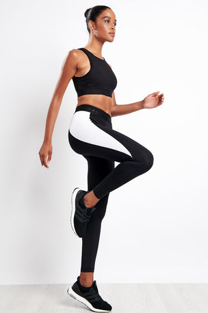 Koral Blunt Mid Rise Legging Black/White image 4 - The Sports Edit