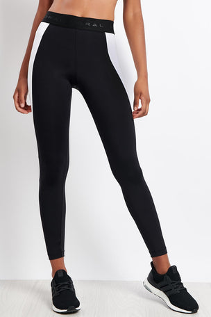 Koral Blunt Mid Rise Legging Black/White image 5 - The Sports Edit