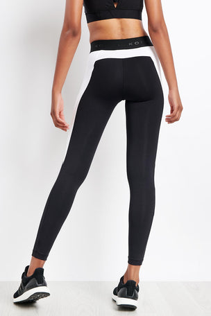 Koral Blunt Mid Rise Legging Black/White image 2 - The Sports Edit
