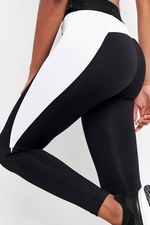 Koral Blunt Mid Rise Legging Black/White image 3 - The Sports Edit