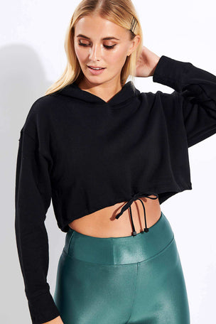 Koral Clover Matte Sweatshirt - Black image 1 - The Sports Edit