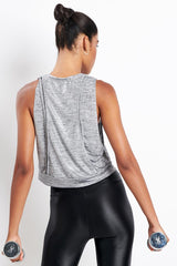 Koral Cut Deanna Crop Top Silver image 2 - The Sports Edit