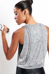 Koral Cut Deanna Crop Top Silver image 3 - The Sports Edit