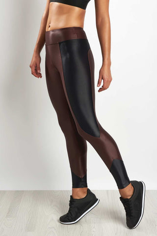 Koral Curve Crop Legging Bordeaux image 1 - The Sports Edit