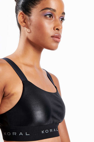 Koral Dare Infinity Bra | Black image 3 - The Sports Edit
