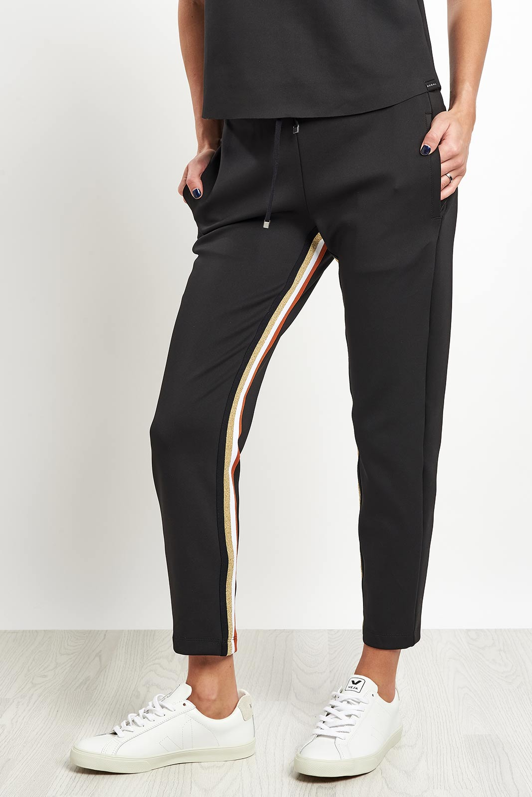 Koral Elizabeth Cropped Pant - Black/Gold image 5 - The Sports Edit